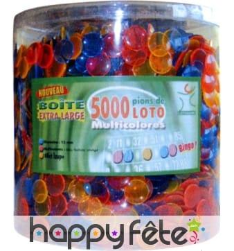 Boîte de 5000 pions multicolores