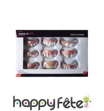 Boîte de 9 dentiers