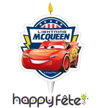 Bougie d'anniversaire Flash McQueen de 7,5cm