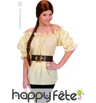 Blouse dame beige