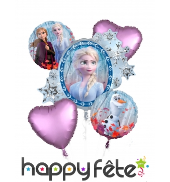 Bouquet de ballons La Reine des Neiges 2