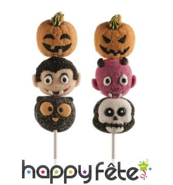Brochettes de bonbons halloween à la guimauve