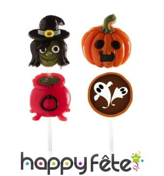 Brochettes de bonbons Halloween gélifiés