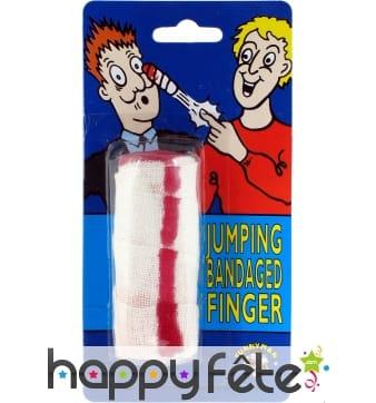 Bandage de doigt sauteur sur ressort