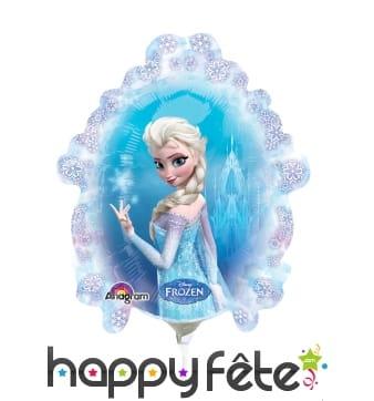 Ballon de Elsa la reine des neiges, sur tige