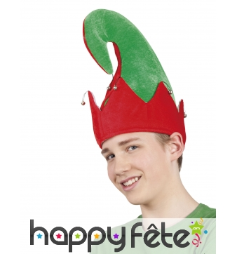 Bonnet d'elfe recourbé pour adulte