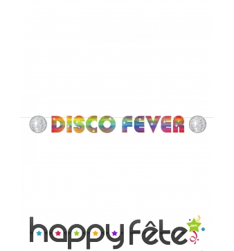 Banderole Disco Fever multicolore de 2,13 m
