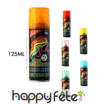 Bombe de laque fluo pour cheveux de 125 ml