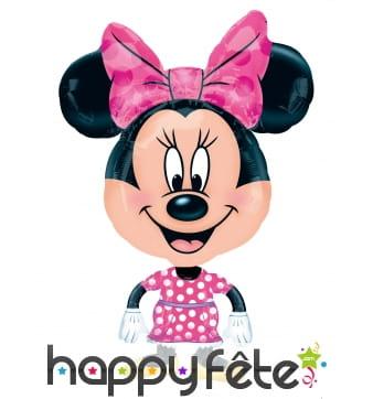 Ballon de Minnie Mouse avec grosse tête, 78 cm