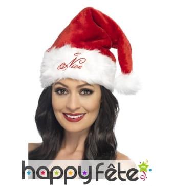 Bonnet de mère Noël Naughty ou Nice