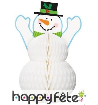 Bonhomme de neige centre de table, 30cm