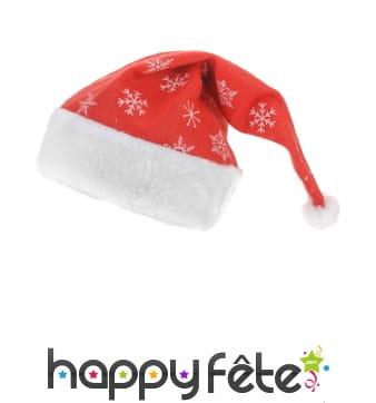 Bonnet de Noel avec flocons imprimés