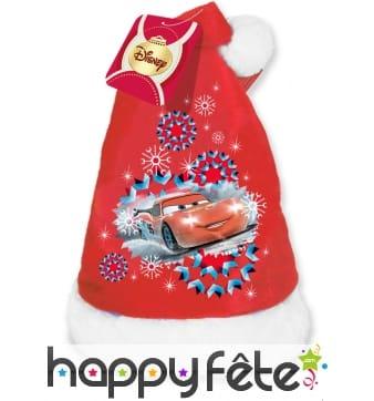 Bonnet de Noël Cars pour enfant