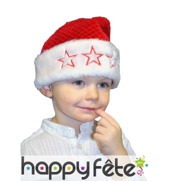 Bonnet de Noël en peluche pour enfant