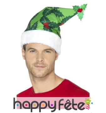 Bonnet de Noël recouvert de motifs gui