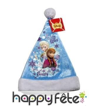 Bonnet de noël reine des neiges pour enfant