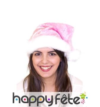 Bonnet de Noël rose clair