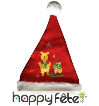 Bonnet de Noël Winnie l'ourson pour enfant