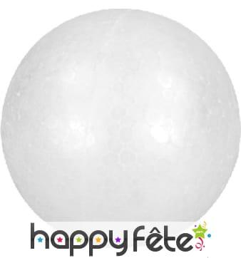 Boule de Noël blanche en polystyrène, à décorer
