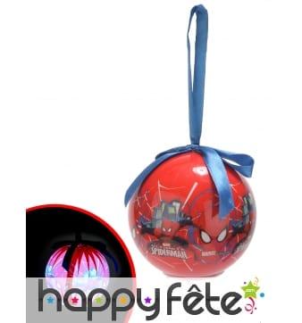 Boule de Noël Spiderman Lumineuse 7,5cm