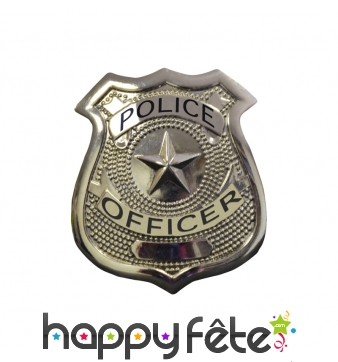 Badge de police en métal