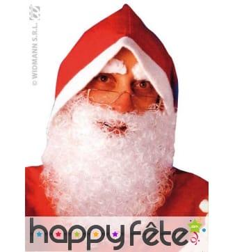 Barbe de pere Noël en nylon frisé