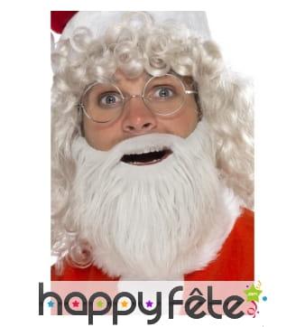 Barbe de père Noël perle, fausse fourrure