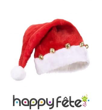 Bonnet de Père Noël décoré de grelots