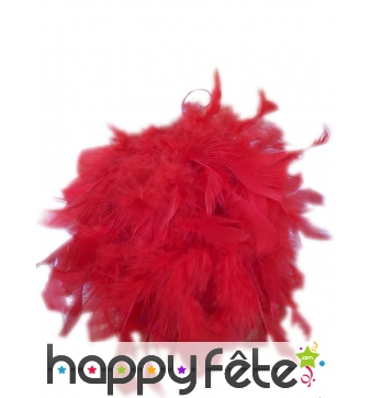 Boule de plumes rouges de 10 cm