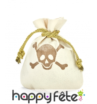 Bourse de pirate beige