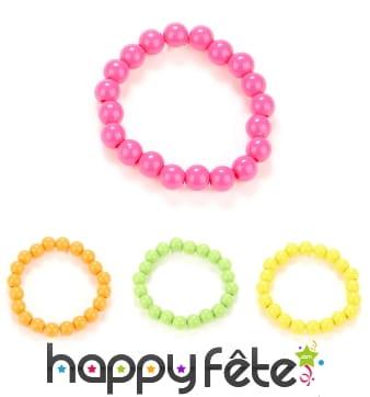 Bracelet de perles colorées années 80