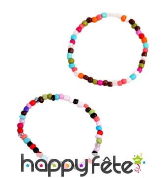 Bracelet de perles multicolores