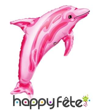 Ballon dauphin rose de 84cm