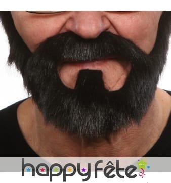 Barbe de rocker noire