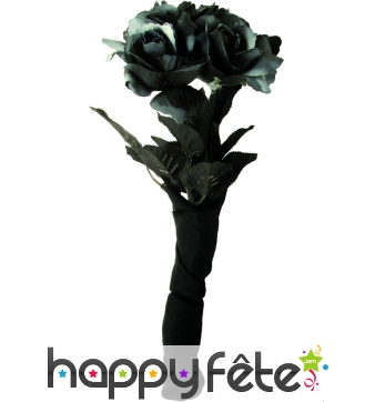 Bouquet de roses noires