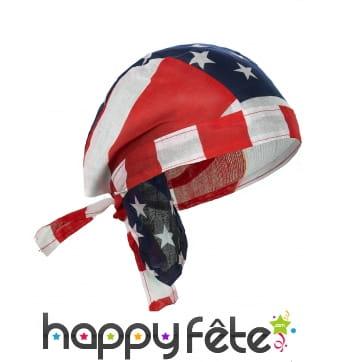 Bandana drapeau USA en tissu
