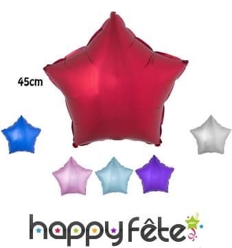 Ballon étoile aluminium de 45cm