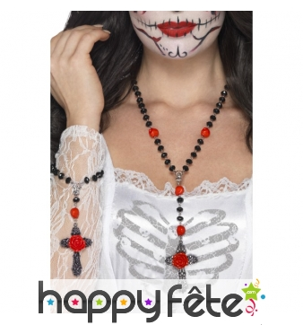 Bracelet et collier rosaire jour des morts