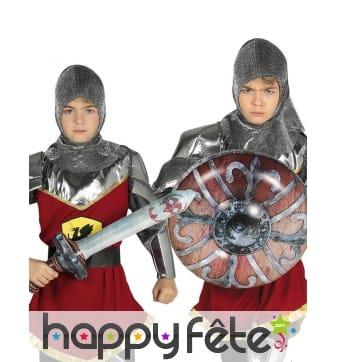 Bouclier et épée gonflables pour enfant