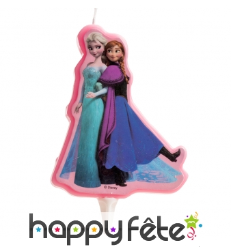 Bougie Elsa et Anna princesses des neiges