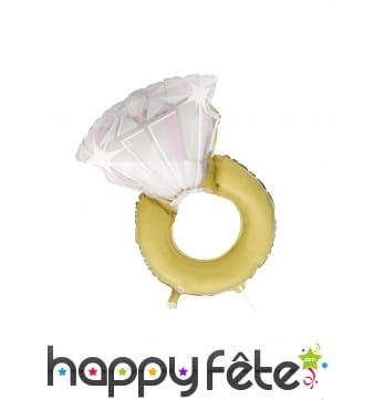 Ballon en forme de bague avec diamant, 81 cm