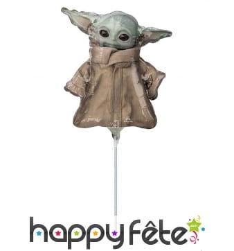 Ballon en forme de bébé Yoda de 23cm