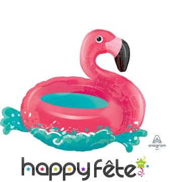 Ballon en forme de bouée flamant rose, 76cm