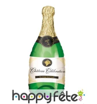 Ballon en forme de bouteille de champagne