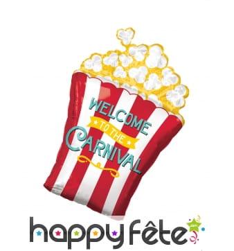 Ballon en forme de pot de popcorn, 50 x 73 cm