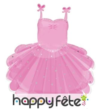 Ballon en forme de robe rose de ballerine