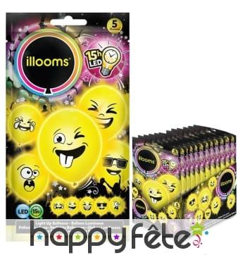 Ballons émoticônes lumineux