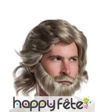 Barbe et perruque de Luke Skywalker pour homme
