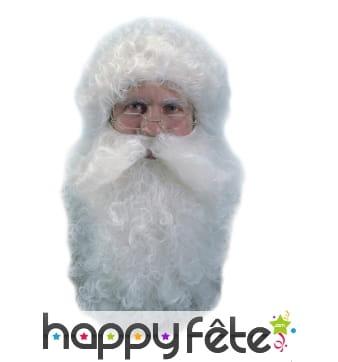 Barbe et perruque de père Noël effet naturel