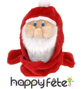 Bonnet écharpe Père Noël pour adulte